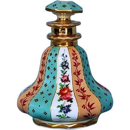 19th Century French Porcelain Cologne Bottle by Darte Freres