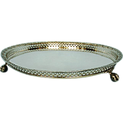 Early 19th Century Lisbon Silver Footed Salver with Pierced and Embossed Gallery