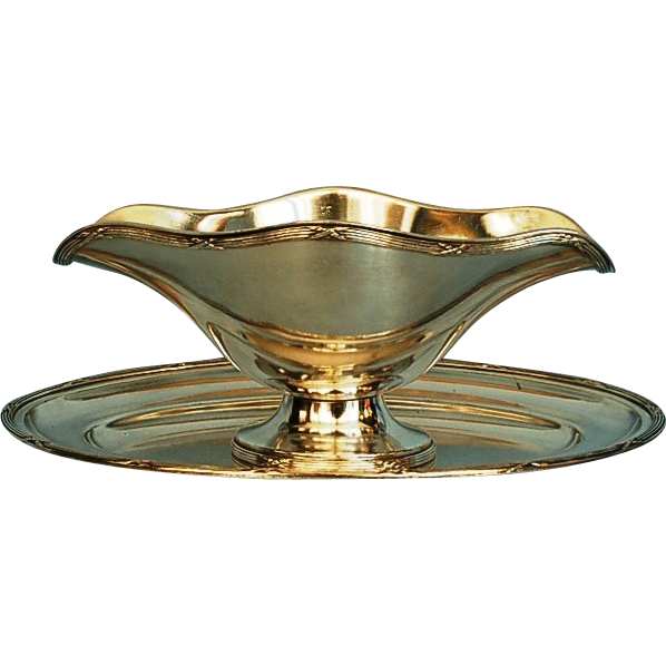 Antique French Silverplate Sauce Boat