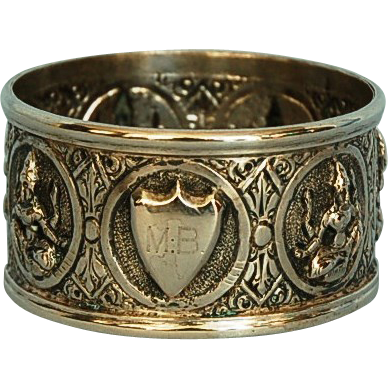 19th Century Anglo Colonial Silver Napkin Ring