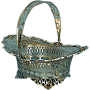 Vintage Dutch 833 Fine Silver Hand-hammered Pierced Basket Dated 1933
