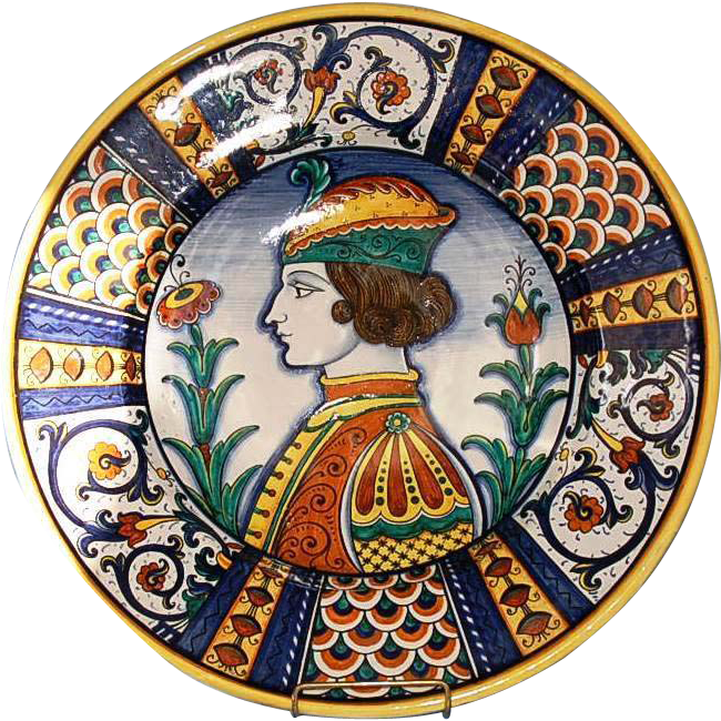 Vintage Italian Faience Charger By D Grazia Deruta