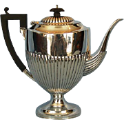 "Mid-Century Birks Sterling Silver ""Queen Anne"" Coffee Pot"