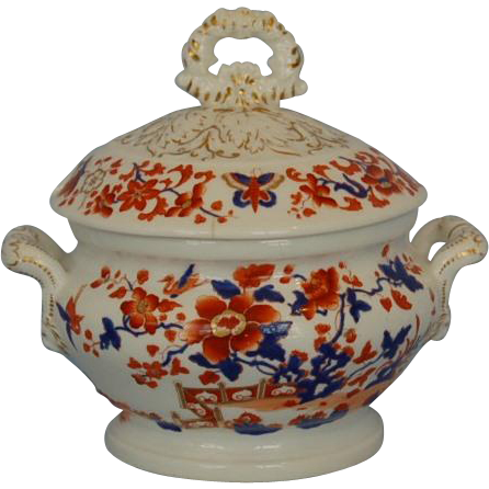 Early 19th Century English Chamberlain's Worcester Sauce Tureen and Cover