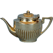 Early 20th Century Miniature Sterling Silver Queen Anne Style Teapot by Saunders and Shepherd