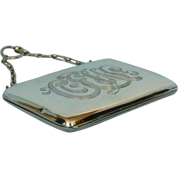 Antique Birks Sterling Silver Card Case, Purse, Aide Memoire
