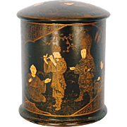 Mid 19th Century Chinese Papier Mache Tea Caddy