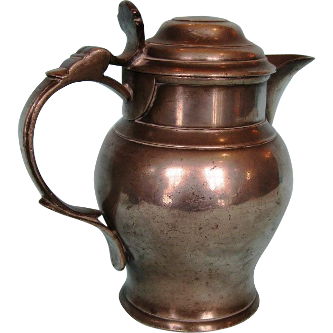 Late 18th Century English Pewter Ale Jug