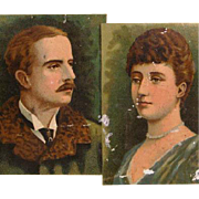 19th Century Sweets Tin Box with Portraits of Marquis of Lorne and Princess Louise