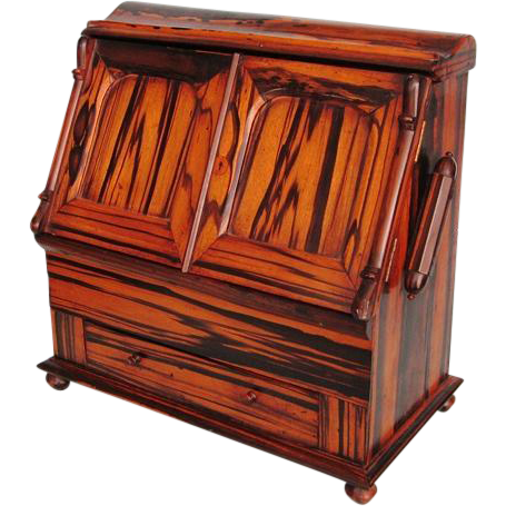 Victorian Period English or Anglo Indian Coromandel Table-top Stationary Writing Cabinet