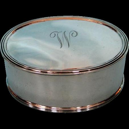 Vintage Gentleman's Sterling Silver Dresser Box