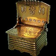 Pre-revolution Russian .875 Fine Silver Gilt Salt Throne by CD, Moscow