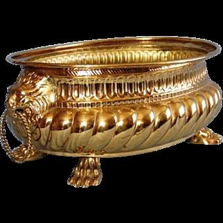 Early 19th Century Dutch Brass Wine Cooler or Jardinière