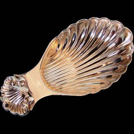 Modern English Sterling Silver Tea Caddy Spoon by Albert Edward Jones