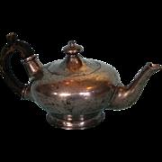 Mid-19th Century Britannia Metal Bachelor Tea Pot by Atkin Brothers
