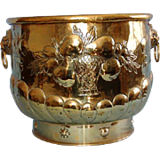 19th Century English Brass Jardiniere