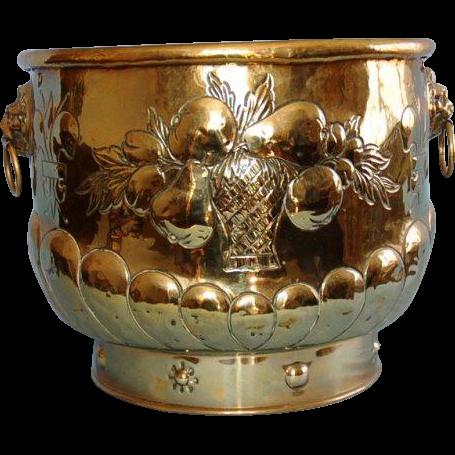19th Century English Brass Jardiniere