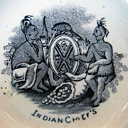 Rare 19th Century Scottish Plate of Canadian Interest