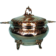 Antique Belgium .950 Fine Silver Soup Tureen