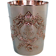 19th Century French .950 Fine First Standard Silver Beaker by Charles Hacker