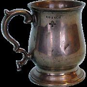 19th Century Victorian Pewter Half-pint Mug by William Robert Loftus