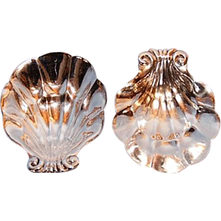 Mid-Century Canadian Sterling Silver Shell-shaped Dishes by Pol Petersen, Montreal