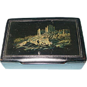 Mid-19th Century English Papier-Maché Snuff Box