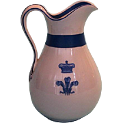 19th Century English China Jug Manufactured for the Prince of Wales Visit to Canada in 1860
