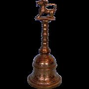 Antique Indian (Hindu) Brass Long-handled Temple Bell