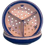 19th Century English Blue & White Two-piece Soap and Sponge Dish Commemorating the Prince of Wales visit to Canada in 1860