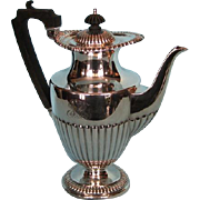 Antique English Silverplate Regency Style Coffee Pot by Elkington and Co