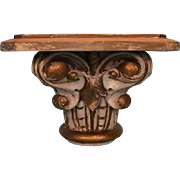 19th Century Québec Carved Column Capital