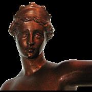 19th Century Italian Bronze Statue of Venus of Capua after the Original Statue in Napoli