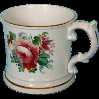 Mid-19th Century English Coalport Porcelain Christening Mug