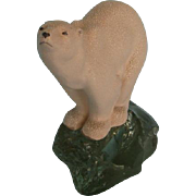 Vintage Sèvres Earthenware Polar Bear by François Pompon