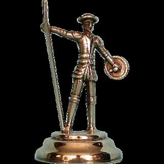 Antique Dutch .833 Fine Silver Miniature Male Figure