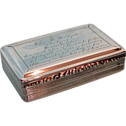 Early 19th Century English Sterling Silver Snuff Box by Nathaniel Mills