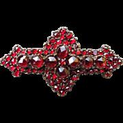 Victorian Bohemian Garnet Brooch Circa 1880