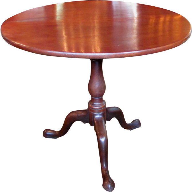 American Mahogany Queen Anne Tilt Top Tea Table 1770's