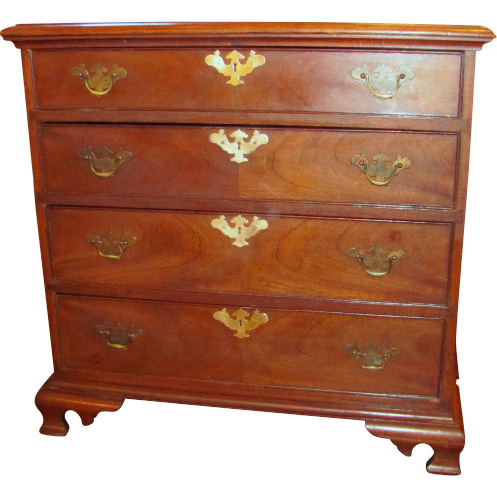 Antique American Walnut Chest of Drawers Circa 1850