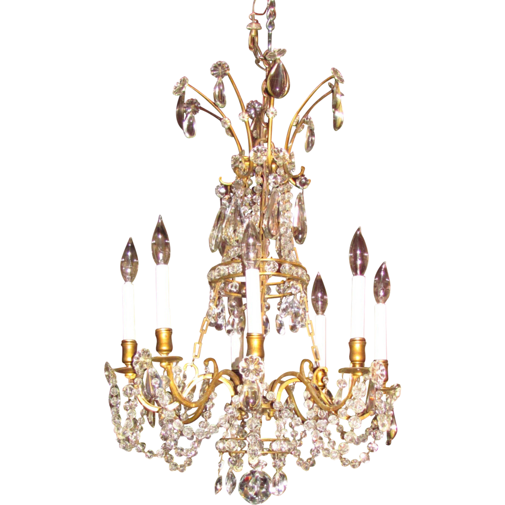 Antique Victorian 8 Light Crystal Chandelier Circa 1880 - Antique Victorian 8 Light Crystal Chandelier Circa 1880 From