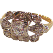 Antique Art Deco 14K Gold Diamond Ring .70cts. Circa 1930's