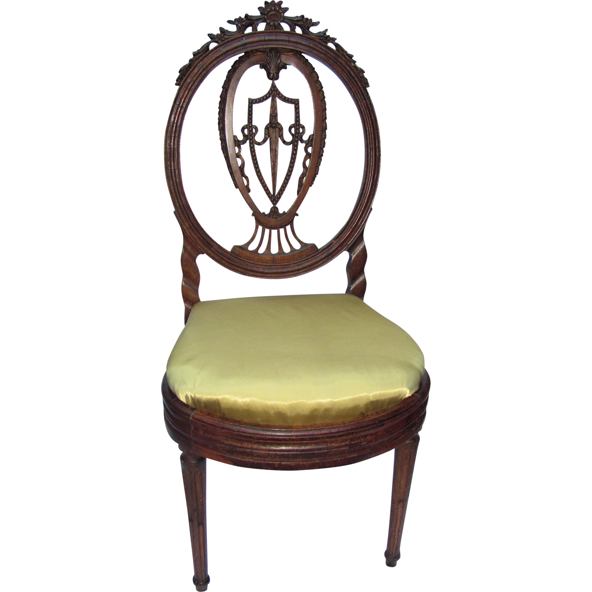Antique French Louis XVI Rosewood Side Chair Circa 1790