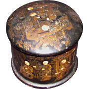 Antique Chinese Paper Mache Lacquered Box Circa 1840