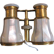 Antique French Mother Of Pearl Opera Glasses Circa 1900