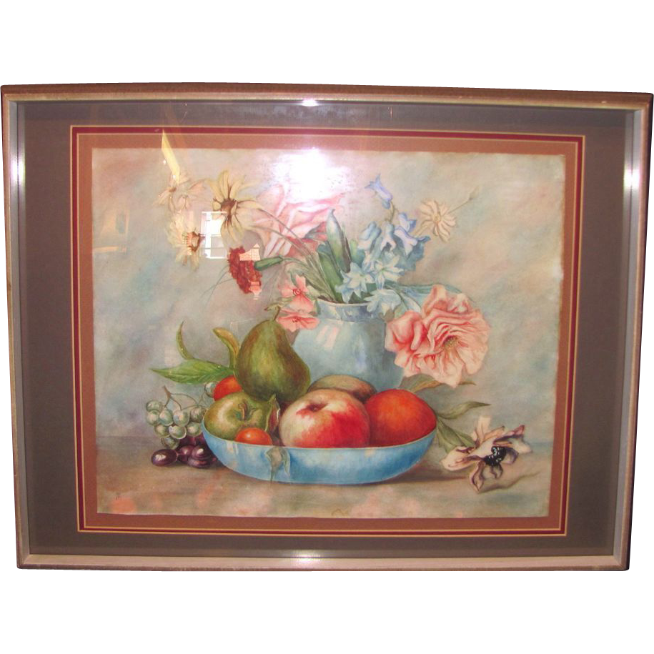 Contemporary Watercolor Still Life Painting Original Art on Paper