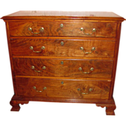 Antique American Walnut Chippendale Chest of Drawers Circa 1770