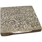 Antique Italian .800 Silver Engraved Compact Renzo Cassetti