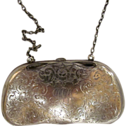 Antique American Sterling Silver Coin Purse Circa 1915