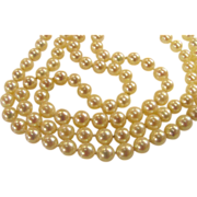 Cultured Saltwater Pearl Necklace 7mm 30""
